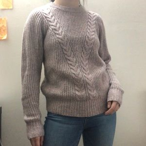 A&F Soft Cable Knit Crewneck Sweater